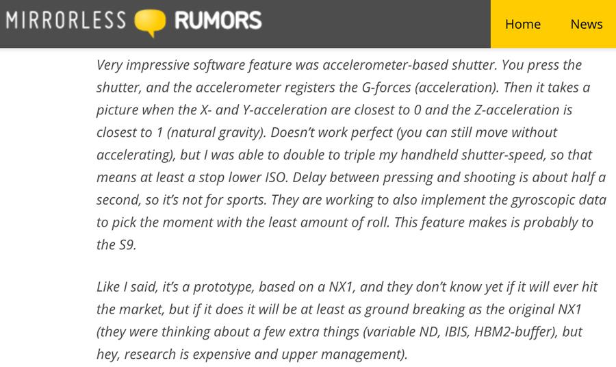 Rumeur Samsung NX (bis)